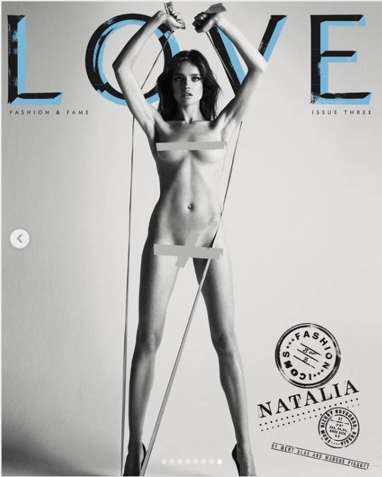 Наталья снялась обнаженной в фотосессии для журнала «Love». Фото: Инстаграм.
