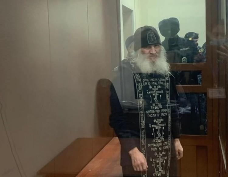 После задержания Сергий обратился к сторонникам, попросив их молиться. Фото: пресс-служба Басманного суда