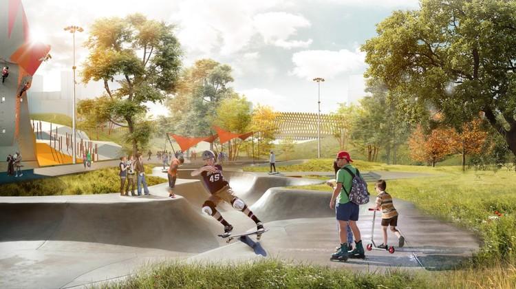 Скейт-парк и скалодром. Фото: архитектурное бюро «IN.FORM», предоставлено администрацией Екатеринбурга
