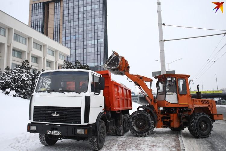 Техника работает по всему Минску