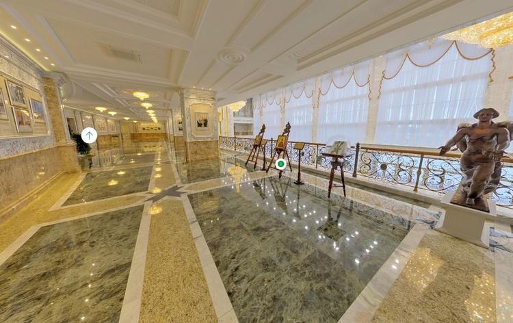 Центральный балкон второго этажа Дворца Независимости в Минске. Фото: president.gov.by.