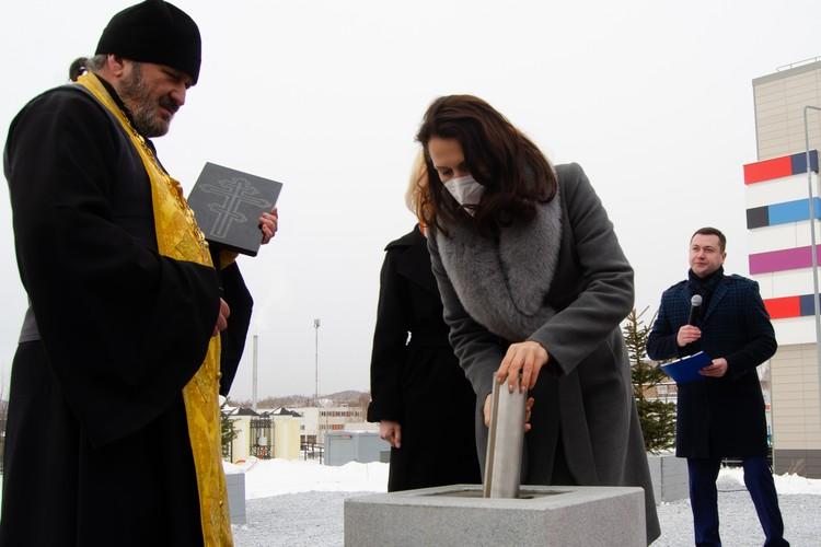 Церемония закладки капсулы под строительство церковно-причтового дома
