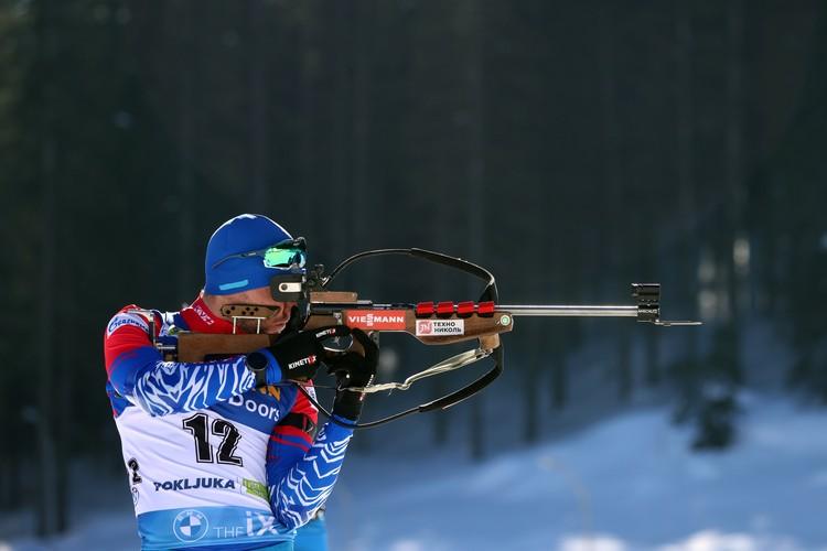 Александр Логинов во время индивидуальных соревнований на 20 км