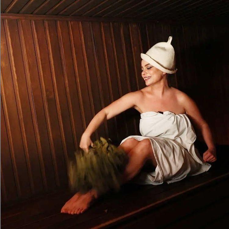 Наташа выложила фото из бани. Фото: Инстаграм.
