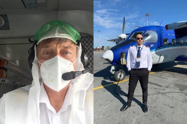 Самолетом управляли пилоты двух поколений - опытный Анатолий Прытков и молодой Фарух Хасанов.