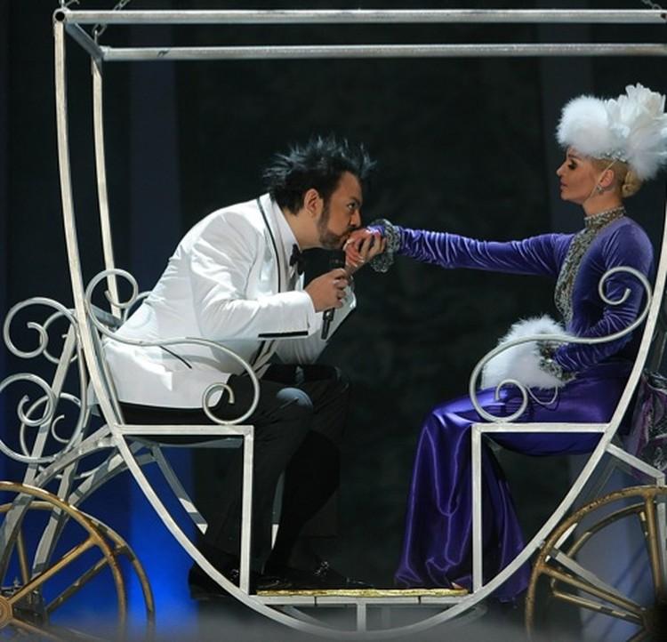 Анастасия Волочкова и Филипп Киркоров.