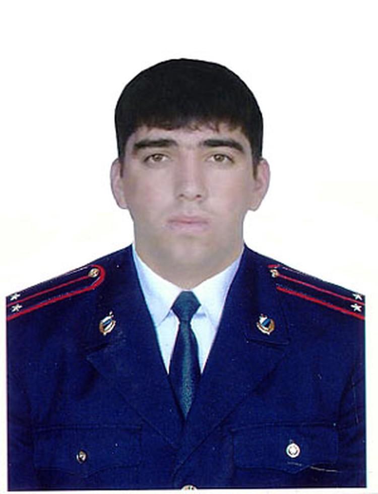 старший лейтенант Джамал Сулейманов, остановивший машину смертника.