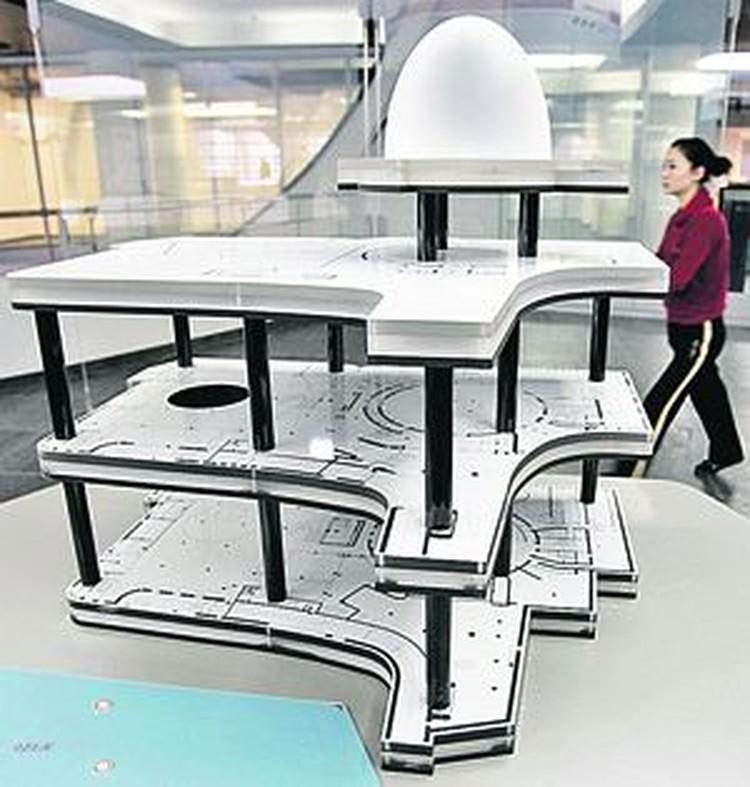 План-схема Московского планетария сама по себе напоминает космический корабль.