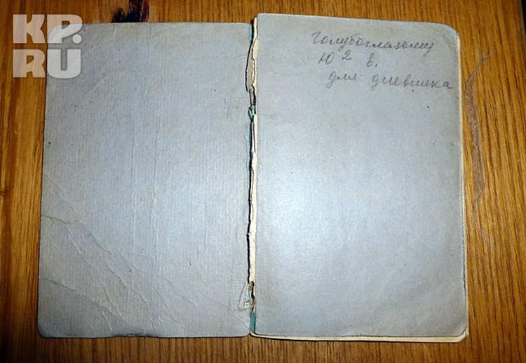 """""""Голубоглазому Ю в квадрате"""" - эту трогательную надпись сделала в блокноте Зина Колмогорова"""