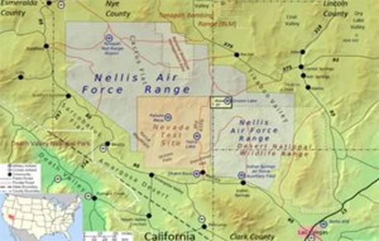 Расположен этот полигон в 200 км к северо-западу от Лас-Вегаса.