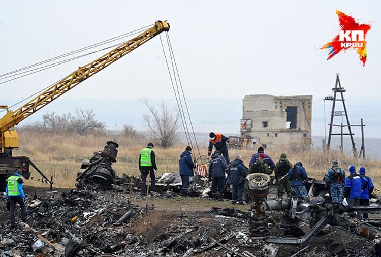 12 ноября на месте гибели малазийского «Боинга» внезапно появились представители ОБСЕ и голландские специалисты. С ними также приехал подъемный кран