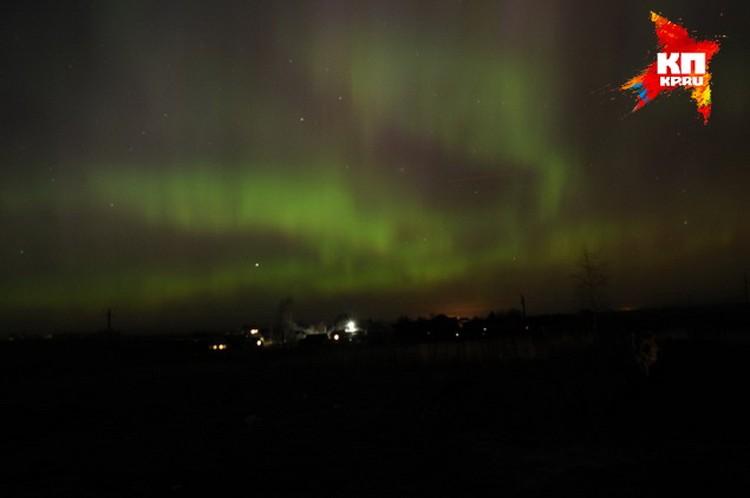 Жители Пскова и Великих Лук тоже наблюдали в мартовском небе северное сияние. Фото: Елена Казакова
