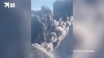 Вулкан Карымский выбросил пятикилометровый столб пепла
