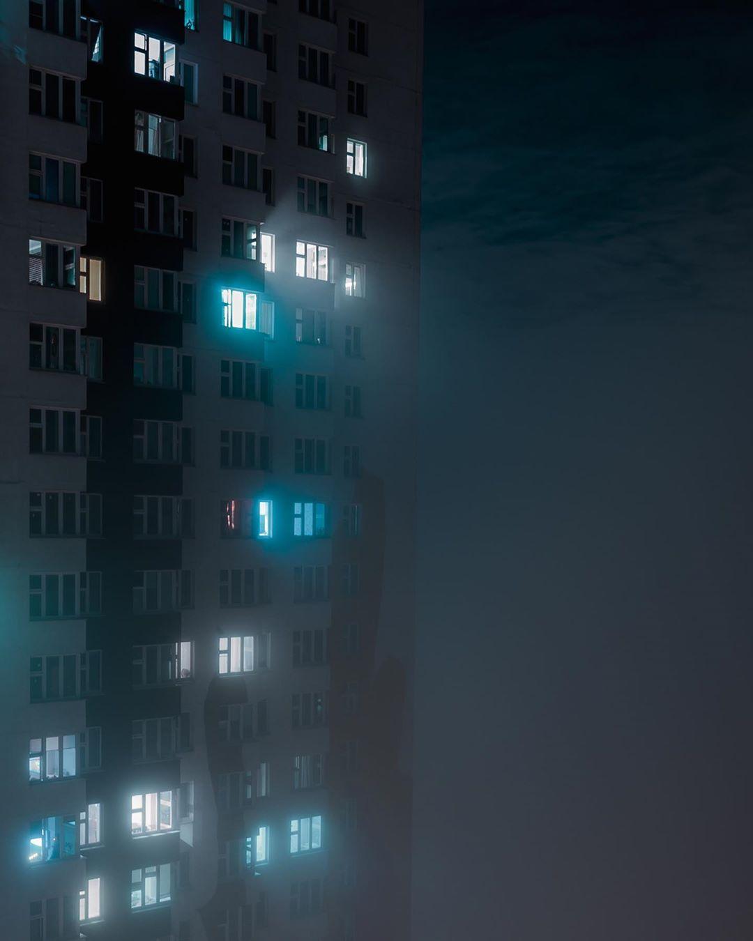 Город, окутанный туманом