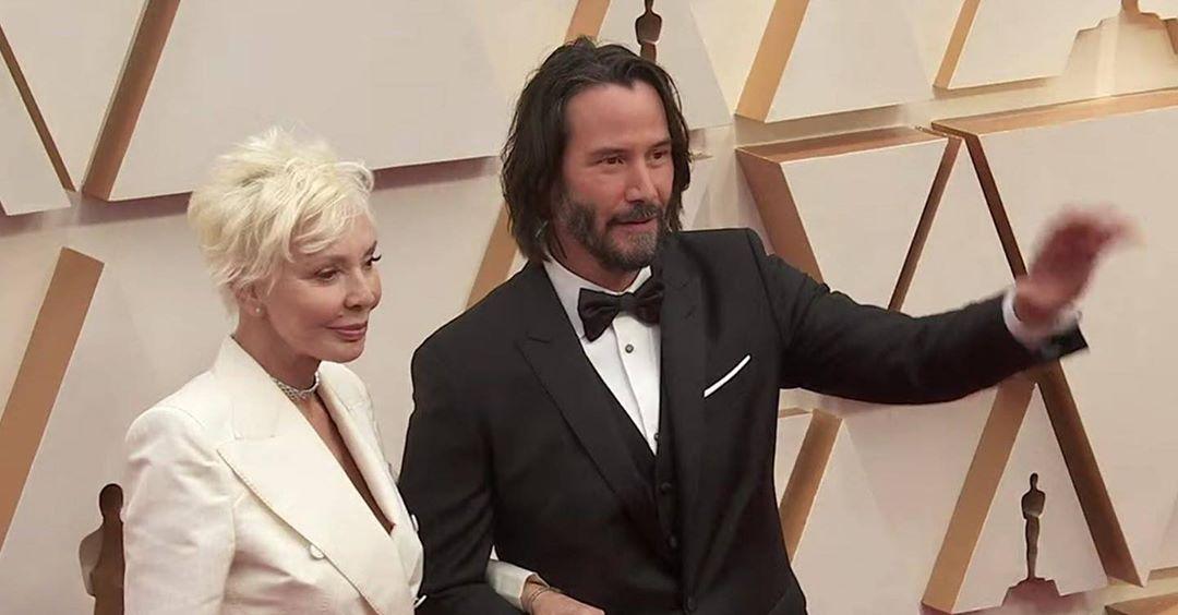 Киану Ривз с мамой на церемонии Оскар 2020