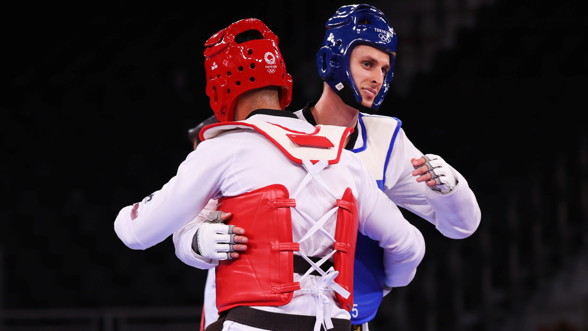 Владислав Ларин прошел в финал Олимпиады в тхэквондо. Фото: REUTERS