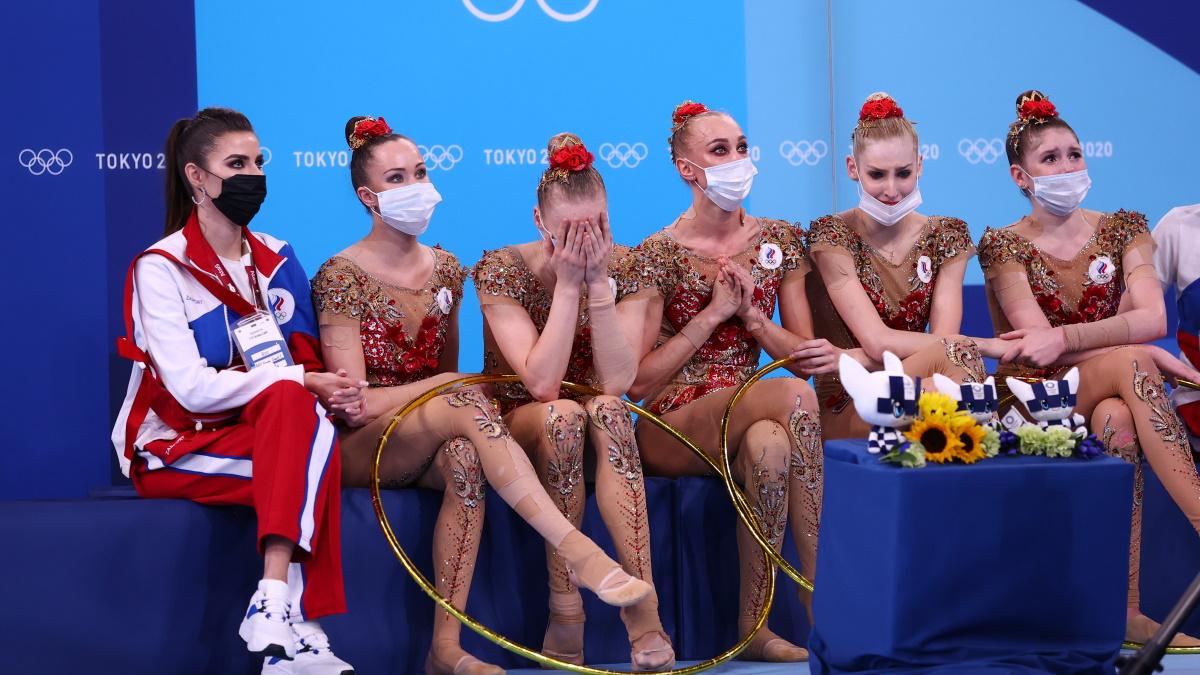 Наши девушки не сдерживали слез, ожидая оценок за выступление. Фото: REUTERS