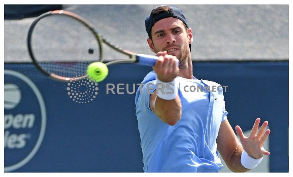 Российский теннисист Карен Хачанов наказан за ненормативную лексику. Фото: Reuters
