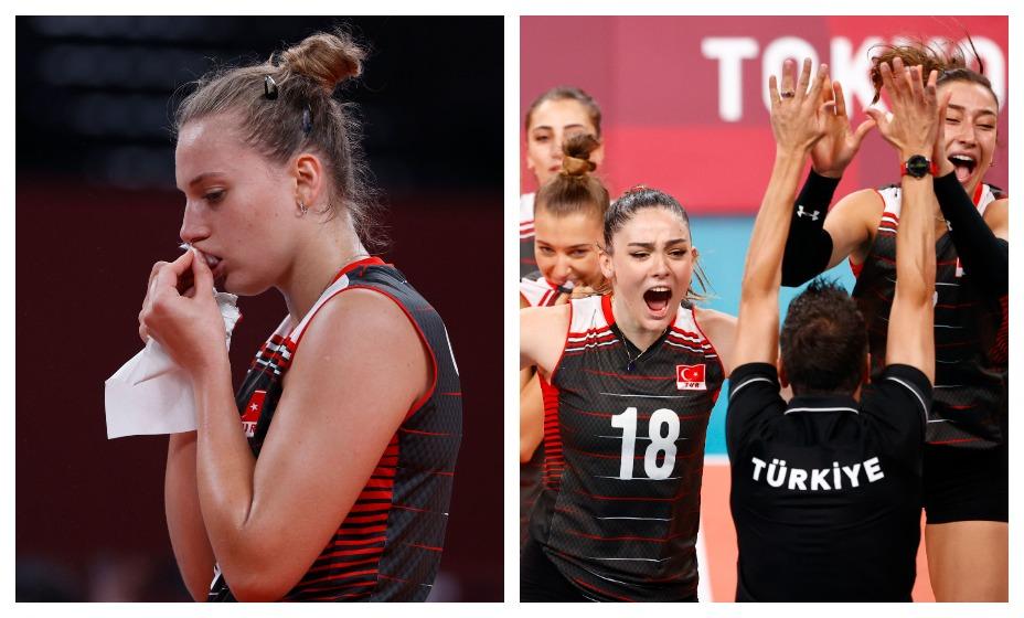Неприятный эпизод произошел у турчанок во время волейбольного мачта с Россией. Фото: Reuters