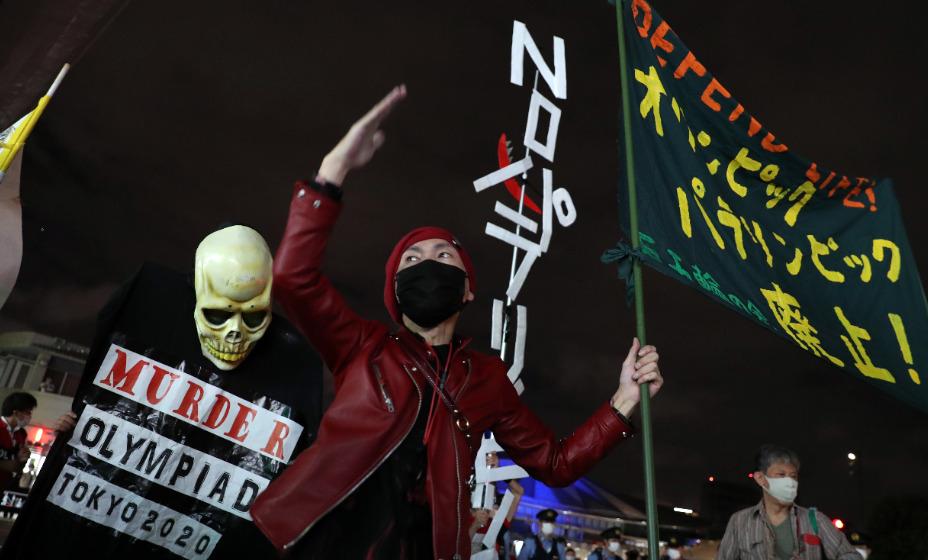 В Токио проходит акция протеста против олимпийского движения. Фото: Reuters